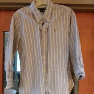 Ralph Lauren Women's Striped Collared Shirt